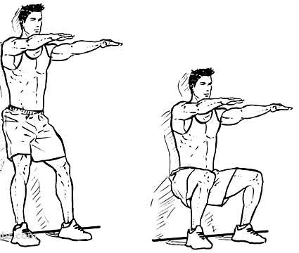 wall sitting squats workouts
