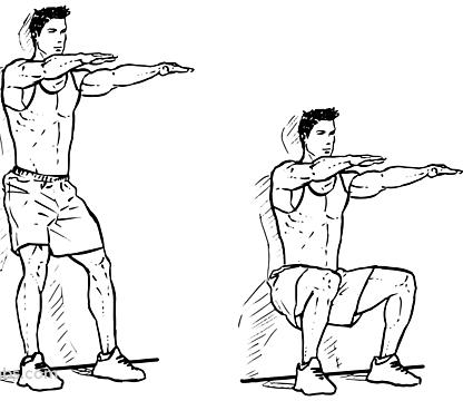 wall sitting squats workouts