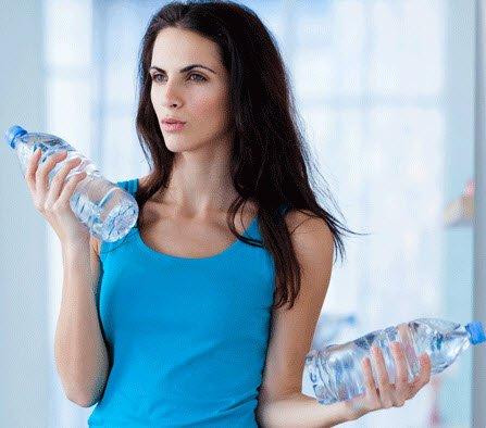 Bicep Curls using Water Bottles