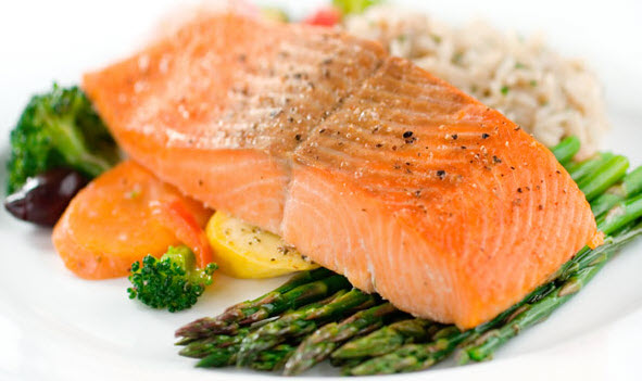 salmon benefits for flat belly