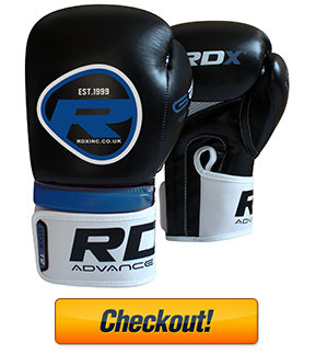 Authentic RDX Rex Leather Boxing Gloves