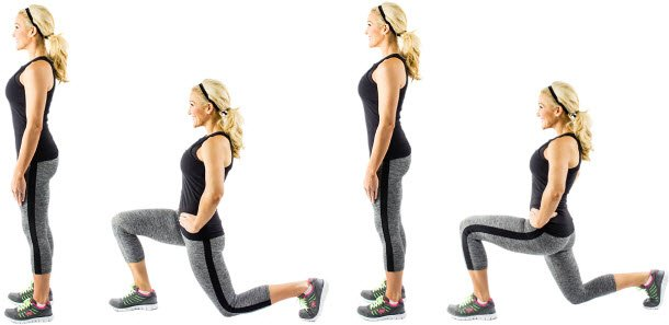 Lunges steps
