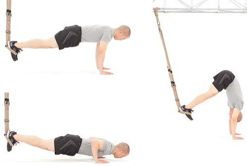 Atomic Pike exercise with trx