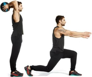 Lunge and Overhead Throw