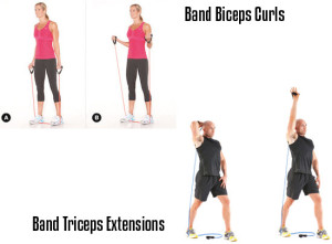 Resistance Bands Exercises for the Arms