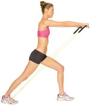 Resistance band Incline Chest Press