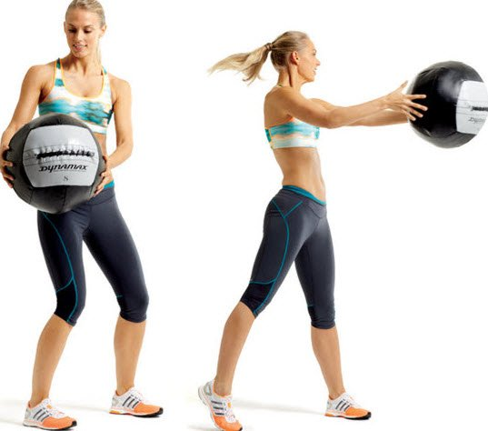 medicine ball Side Scoop Throw
