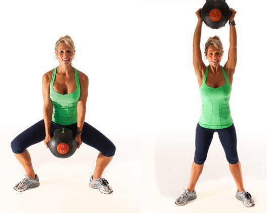 Squat Push Throw