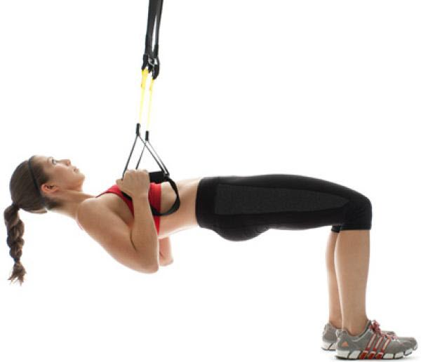 TRX Bridge to Inverted Row exercise