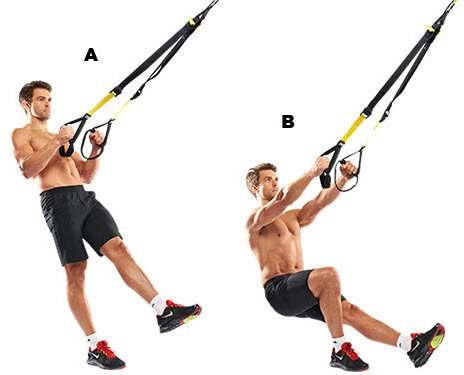 TRX Single Leg Squat exercise