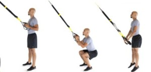 TRX Squat Jump exercise