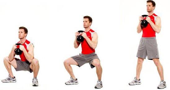 kettlebell goblet squat