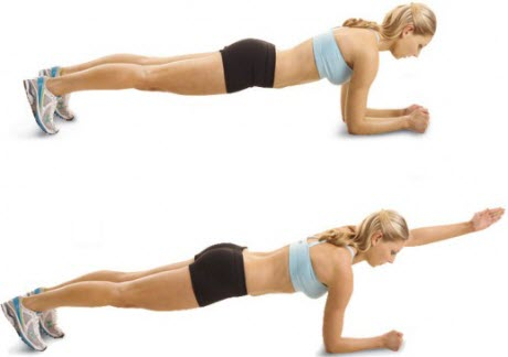 Plank with Arm Raise