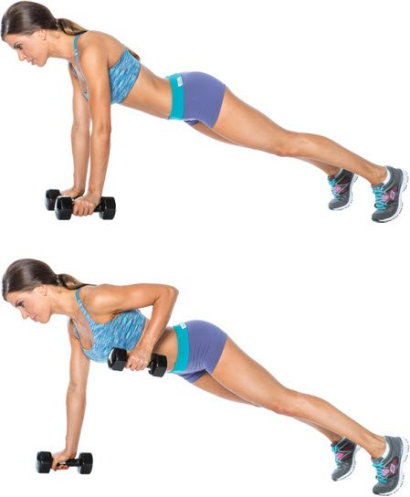 Image result for Dumbbell Renegade Rows