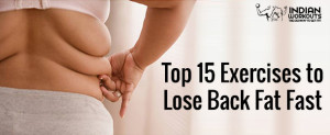 Exercises to Lose Back Fat Fast