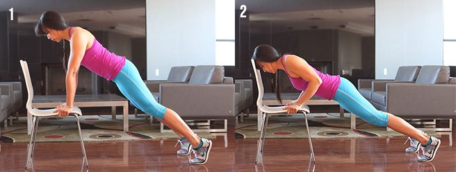 Incline Push Ups with Chair1