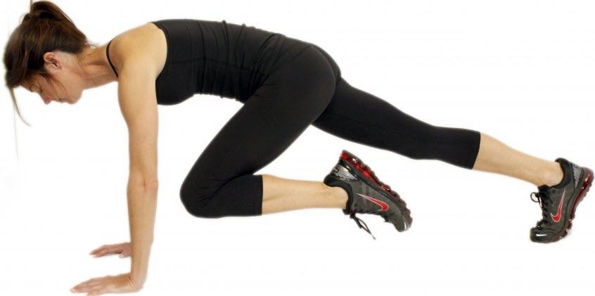 Knee To Elbow Plank