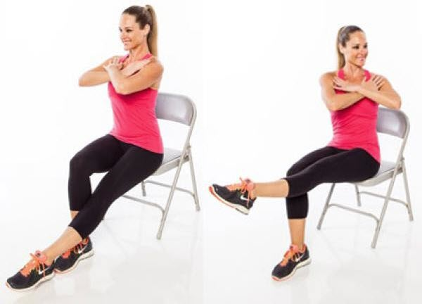 14 unique chair exercises for the whole body for Chair workouts