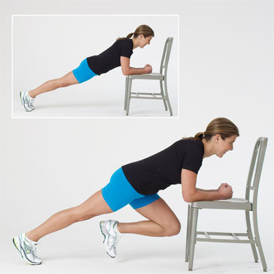 Plank Knee Cross