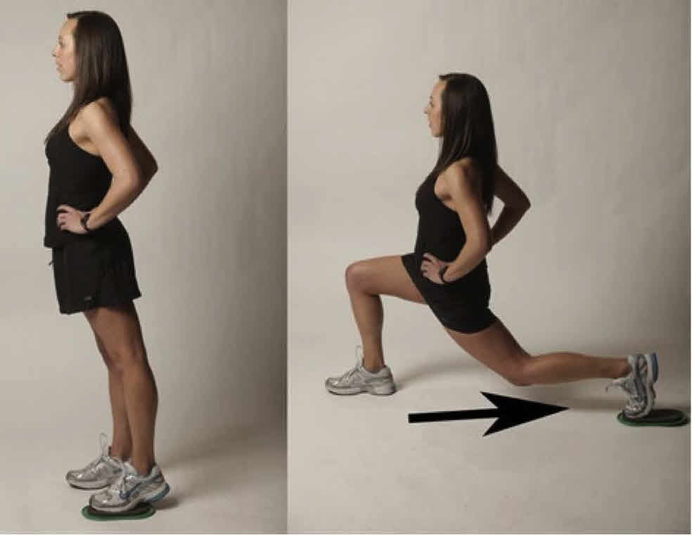 Sliding Lunge with Towel 1