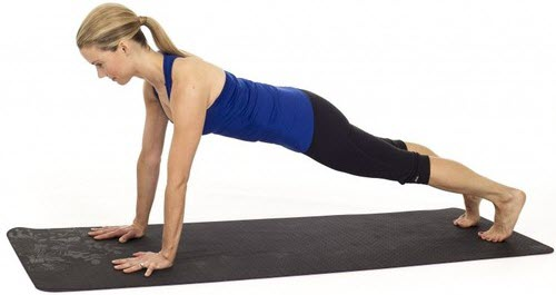 Straight arm planks
