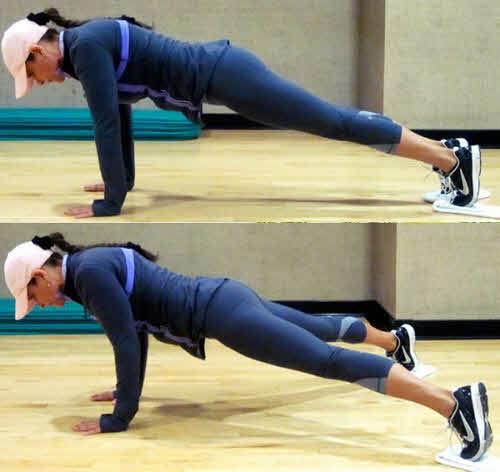 Scissor Leg Plank