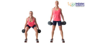 dumbbell-squat