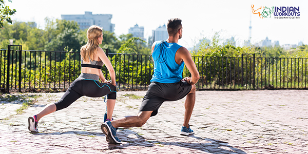 Leaning Lunge exercise to get strong glutes