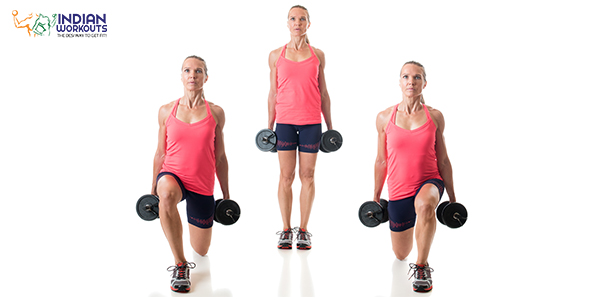 Reverse Lunge workout for strengthening your lower body