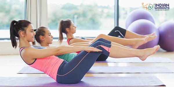 pilates roll up - abdominal workout