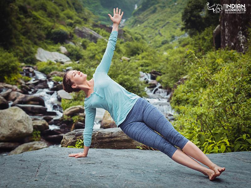 Side plank pose or Vasisthasana